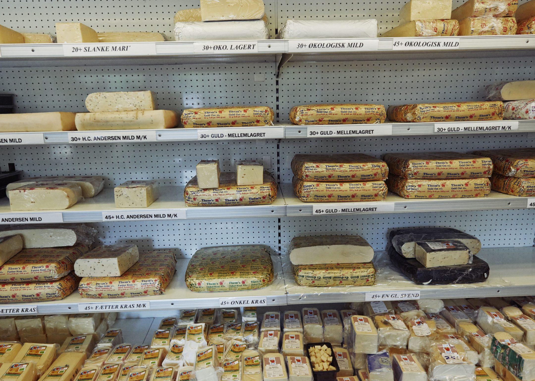 Seneste tal for produktion og salg af ost