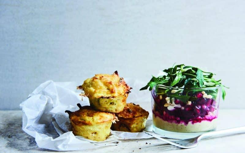 Esrom-muffins med salat