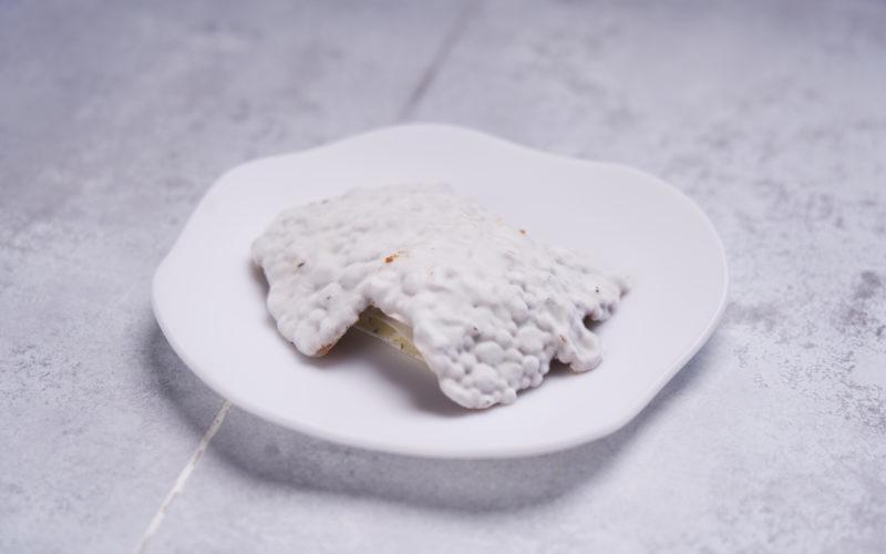 """Spændende dessert med ost: """"Sheeps fur"""" af Mønchego med kvæde, klementin og kirsebærvin"""